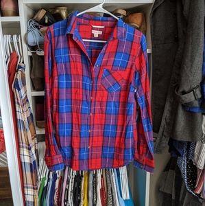 Merona Button Down Flannel Style Shirt